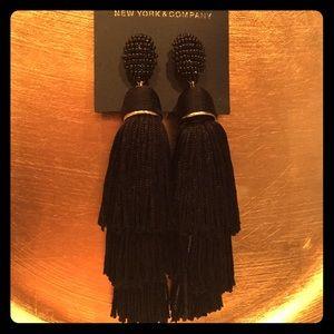 Black Tassel New York & Company Earrings